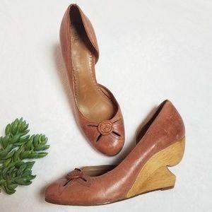 Miss Albright ANTHROPOLOGIE wedge heel